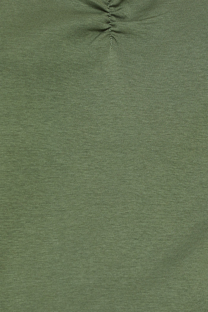 Lace top, 100% cotton, KHAKI GREEN, detail image number 4
