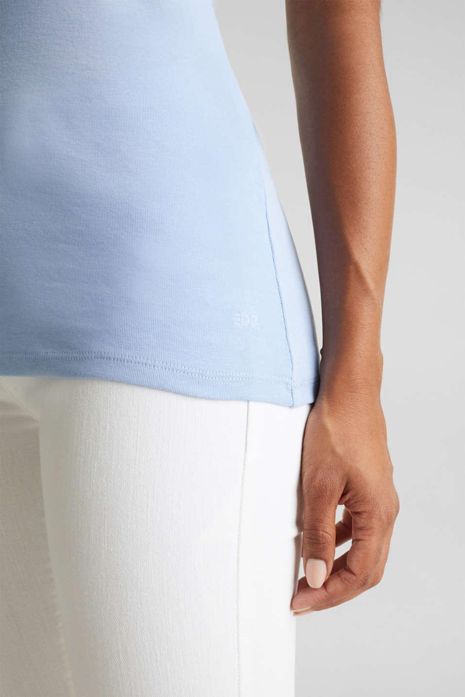 Lace top, 100% cotton, BLUE LAVENDER 4, detail image number 4