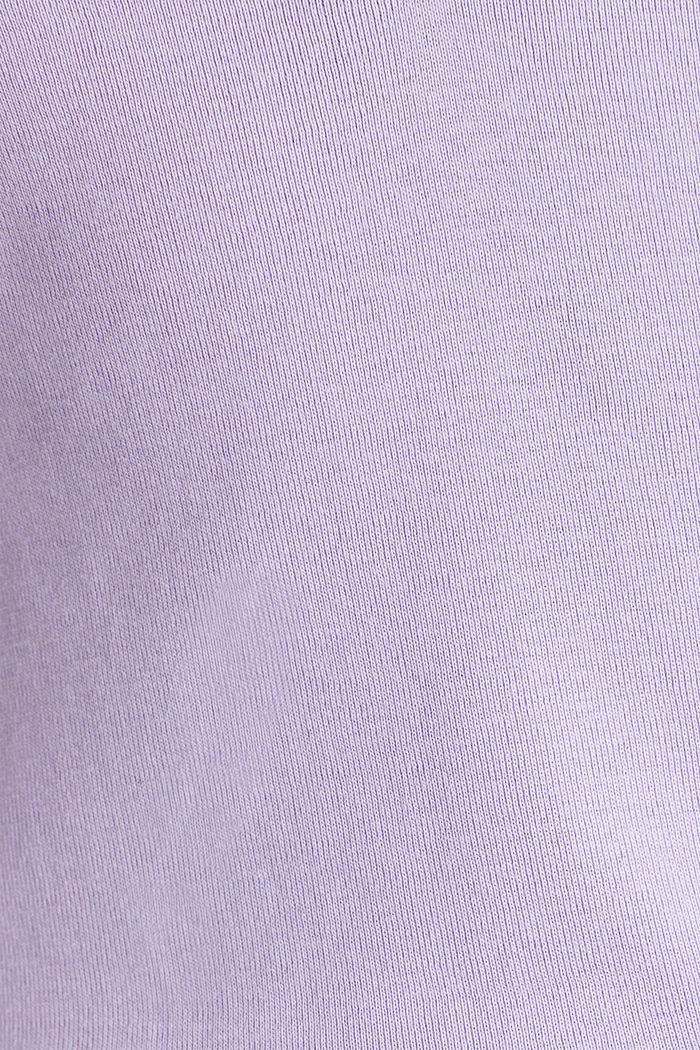 Lace top, 100% cotton, LILAC, detail image number 4