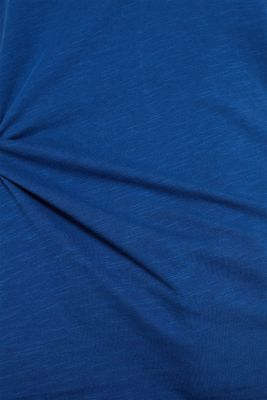 Long sleeve top with rolled edges, 100% cotton, DARK BLUE 4, detail