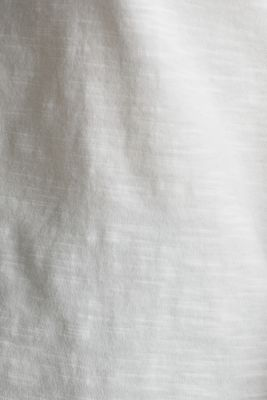 Top with a slub texture, 100% cotton, OFF WHITE, detail