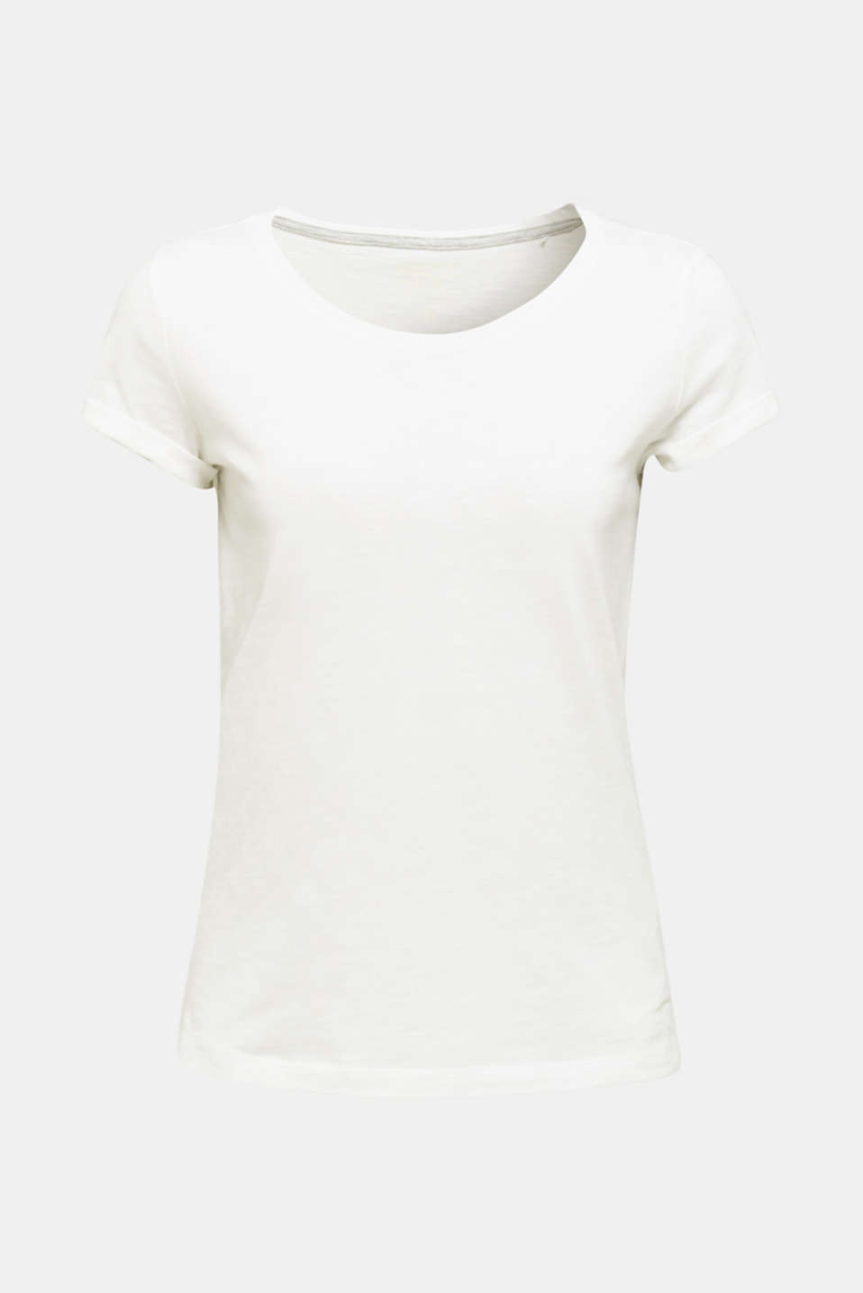 Top with a slub texture, 100% cotton, OFF WHITE, detail image number 6