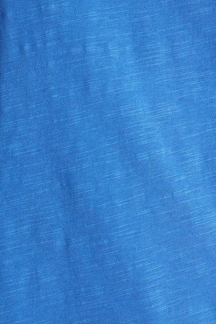 Shirt van slubgaren, 100% katoen, BRIGHT BLUE, detail image number 3