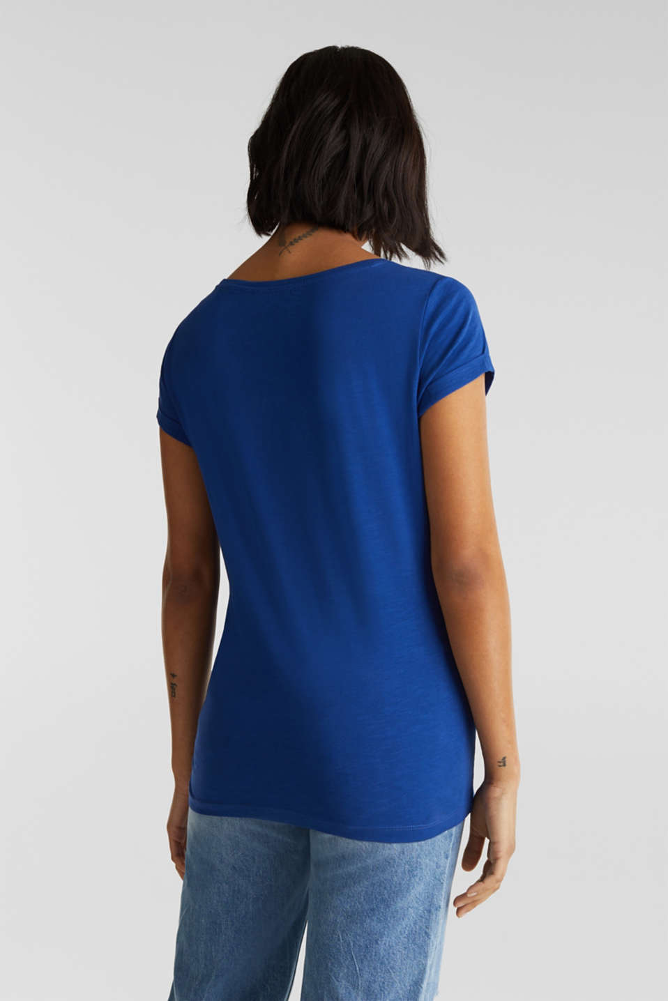 Top with a slub texture, 100% cotton, INK 4, detail image number 3