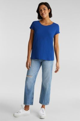 Top with a slub texture, 100% cotton, INK 4, detail