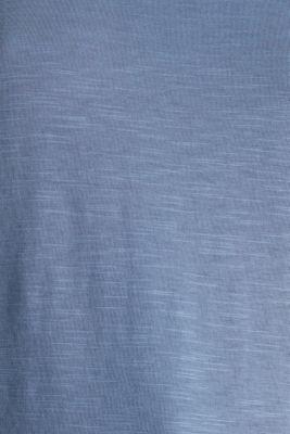 Top with a slub texture, 100% cotton
