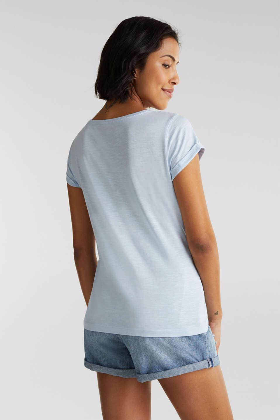 Slub top, 100% cotton, PASTEL BLUE 4, detail image number 3