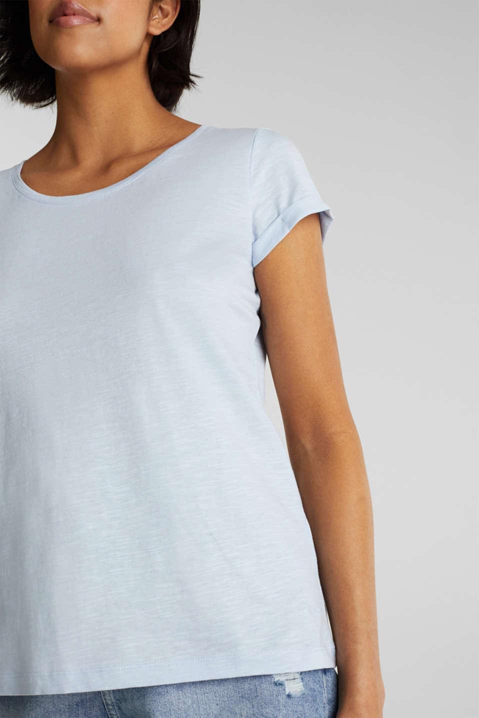Slub top, 100% cotton, PASTEL BLUE 4, detail image number 2
