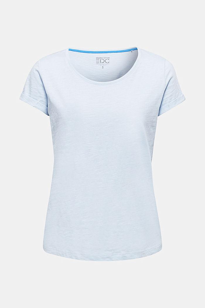 Shirt van slubgaren, 100% katoen, PASTEL BLUE, detail image number 7