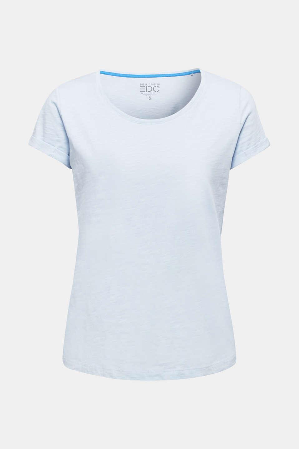 Slub top, 100% cotton, PASTEL BLUE 4, detail image number 7