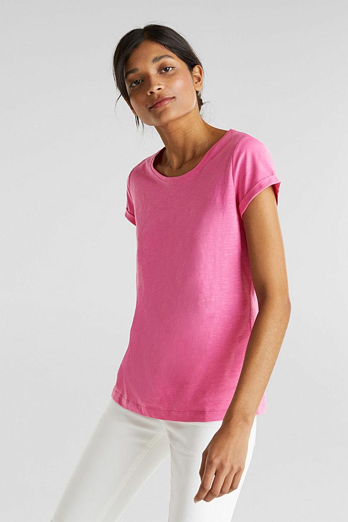 Slub top, 100% cotton, PINK FUCHSIA, detail image number 0