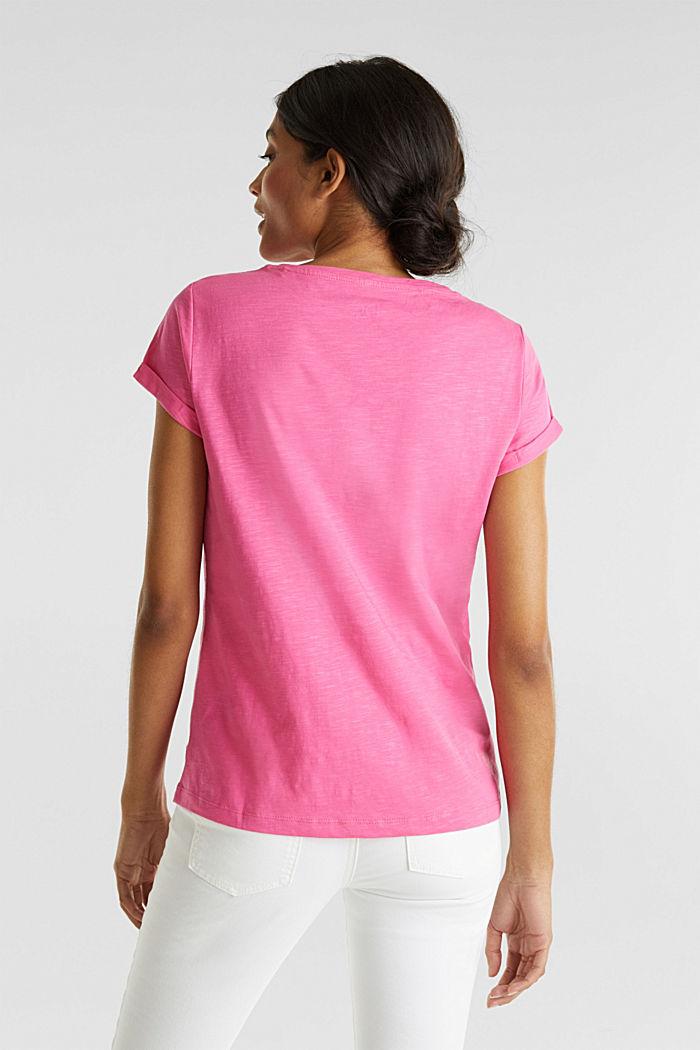 Slub top, 100% cotton, PINK FUCHSIA, detail image number 3