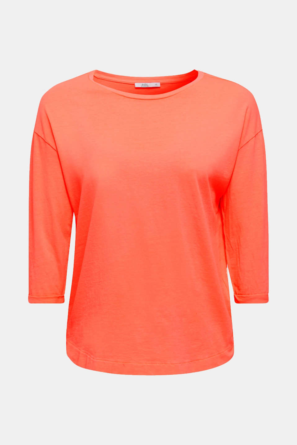 T-shirt in a washed look, 100% cotton, CORAL 4, detail image number 6