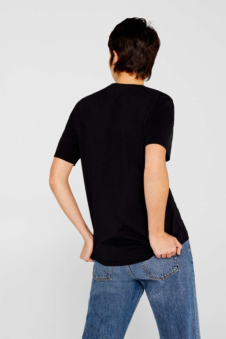 T-shirt with a print, 100% cotton, BLACK, detail image number 3
