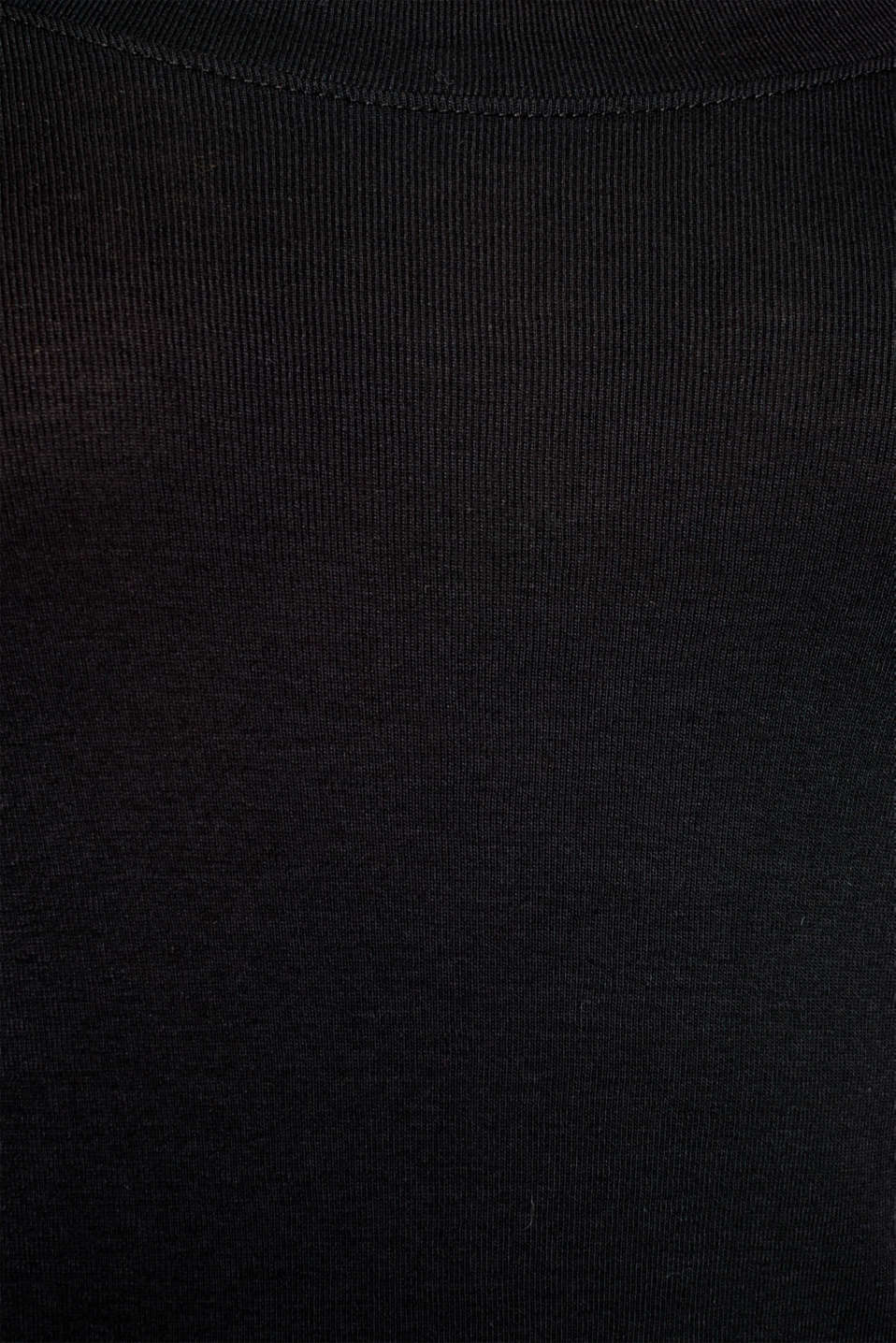 Long sleeve top with a large neckline, 100% cotton, BLACK, detail image number 4