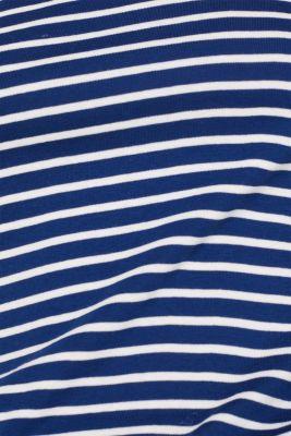 Full-needle long sleeve top, 100% cotton, DARK BLUE 4, detail