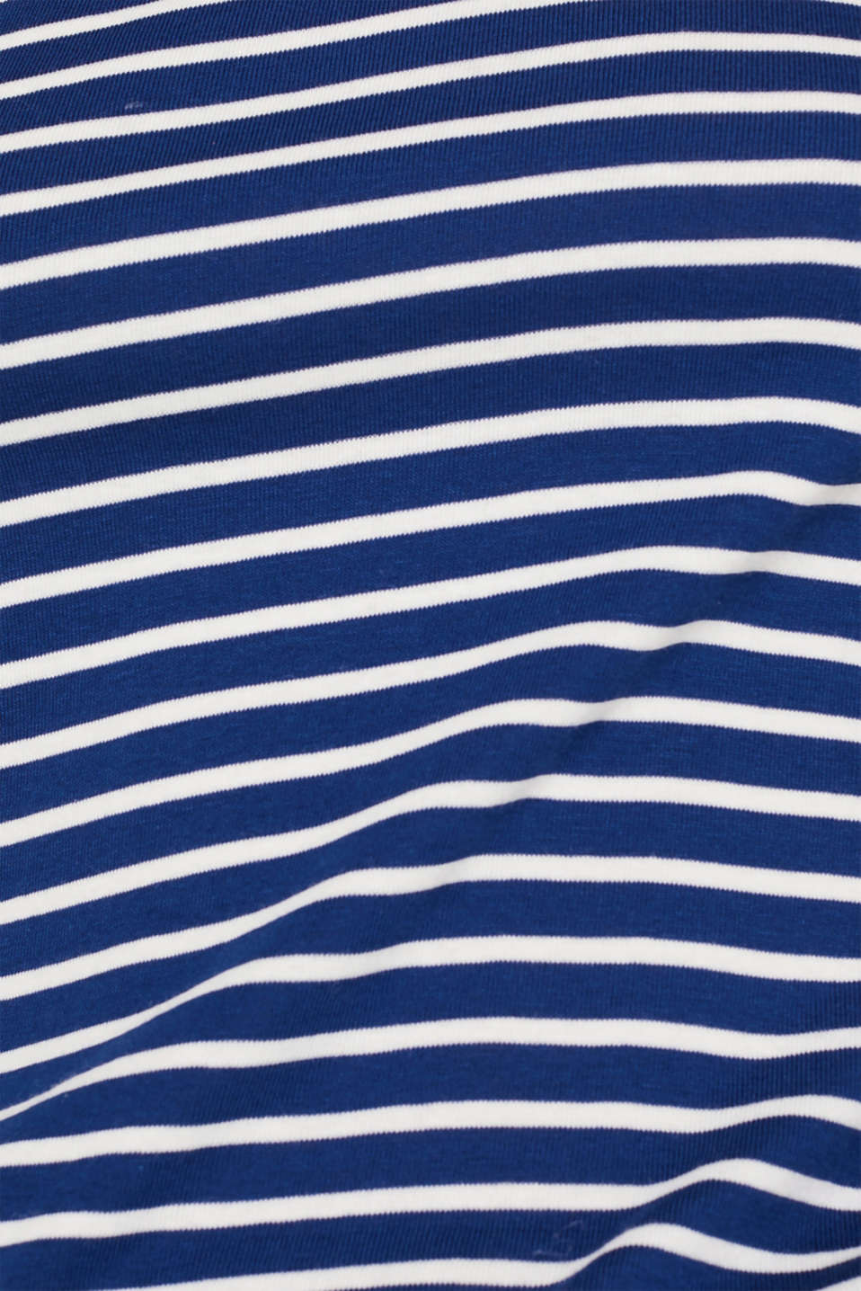 Full-needle long sleeve top, 100% cotton, DARK BLUE 4, detail image number 4