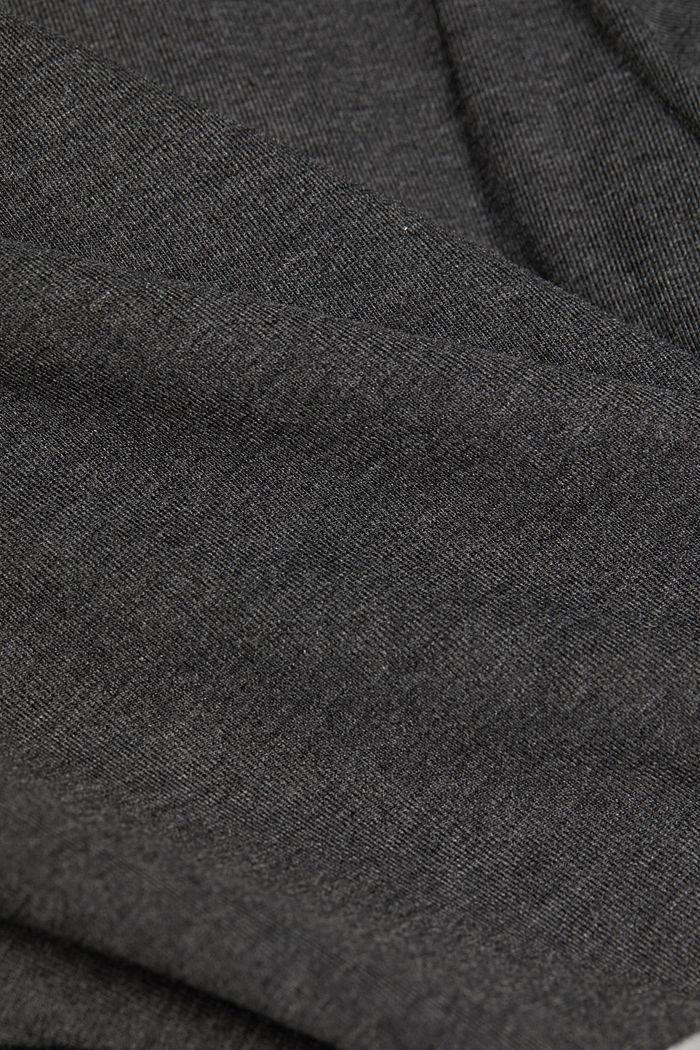 Maglia a maniche lunghe con collo a listino a blocchi di colore, ANTHRACITE, detail image number 4
