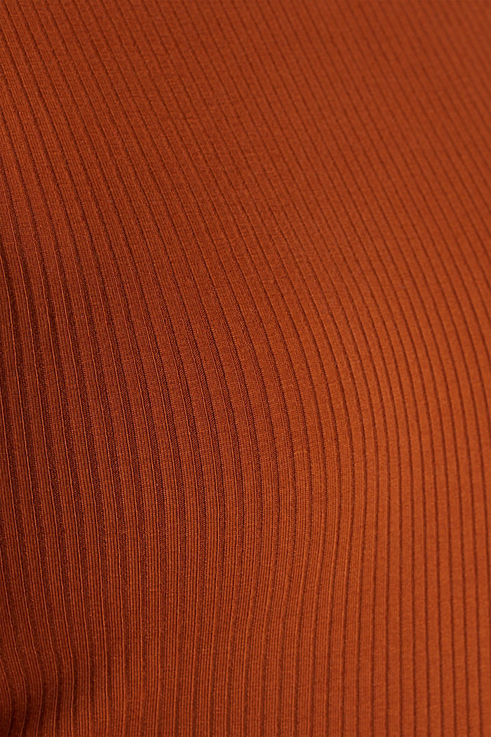 Stretch body with a ribbed texture, CINNAMON, detail image number 4