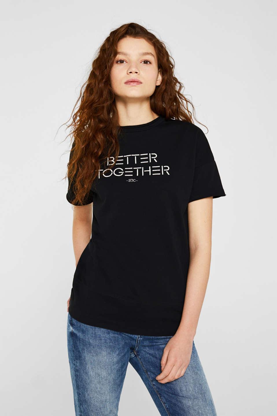 Embroidered sweatshirt, 100% cotton