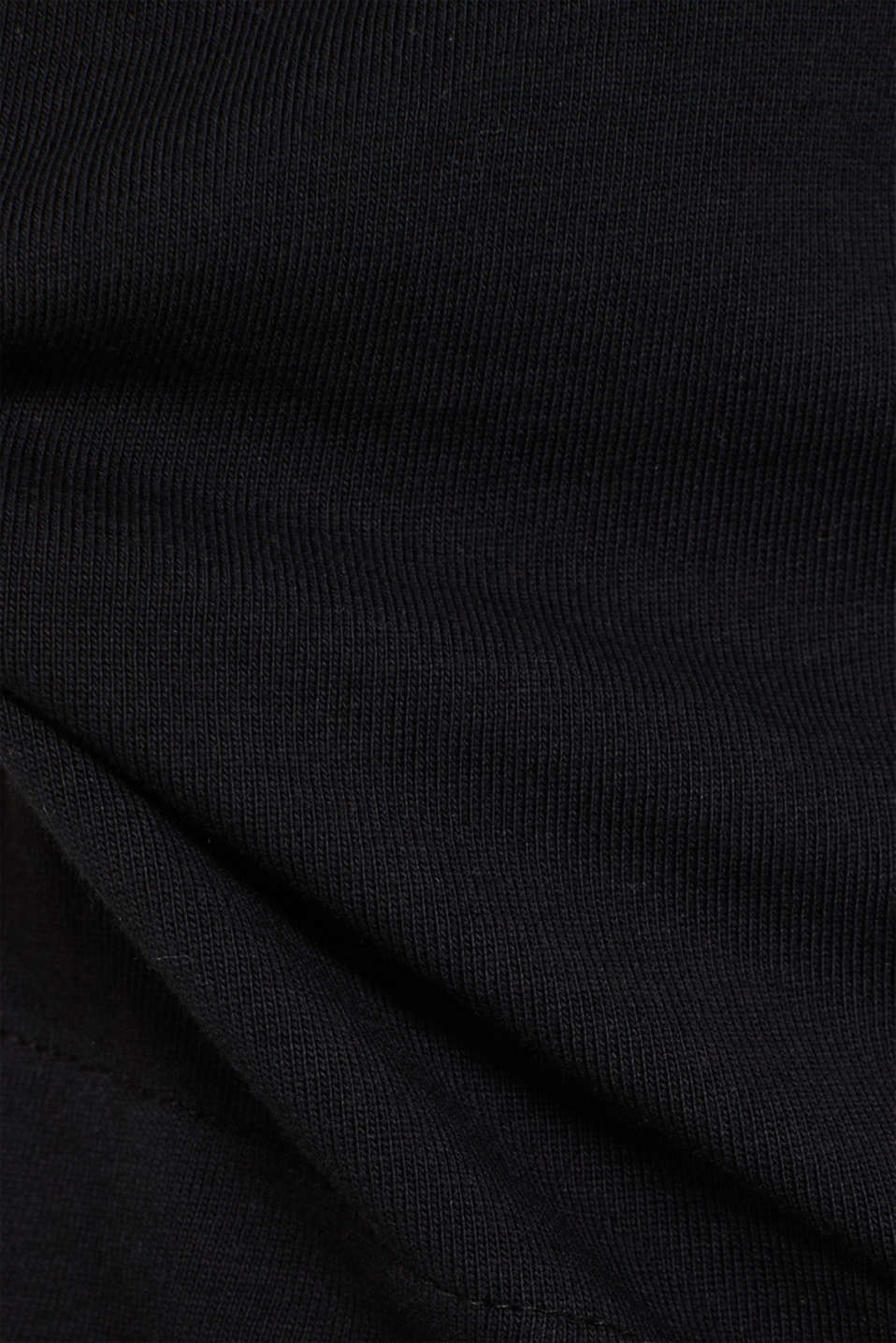 Embroidered sweatshirt, 100% cotton, BLACK, detail image number 4