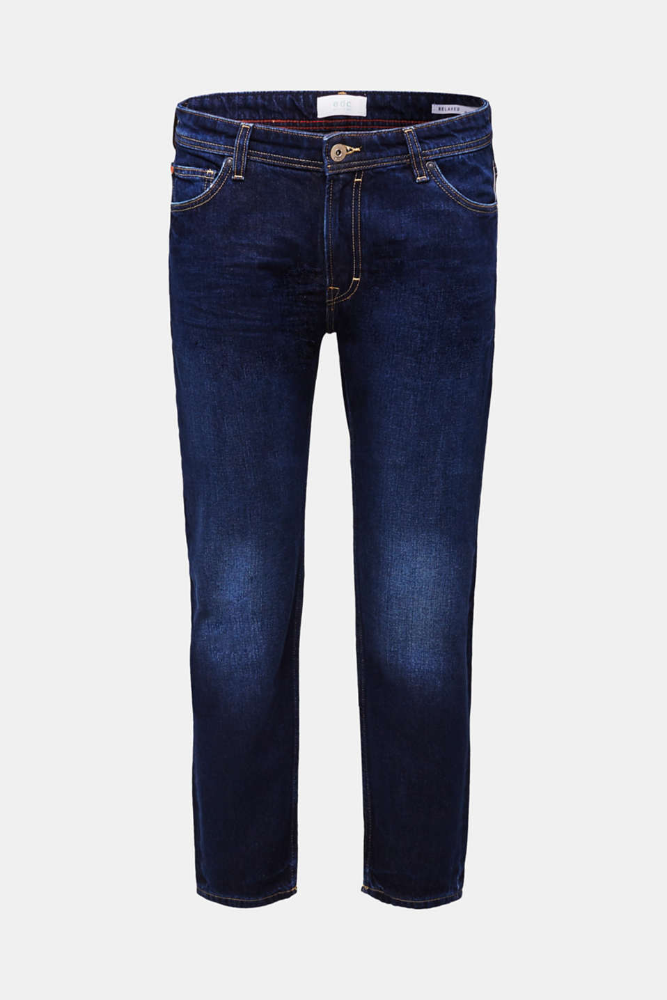 Jeans in 100% cotton, BLUE DARK WASH, detail image number 6