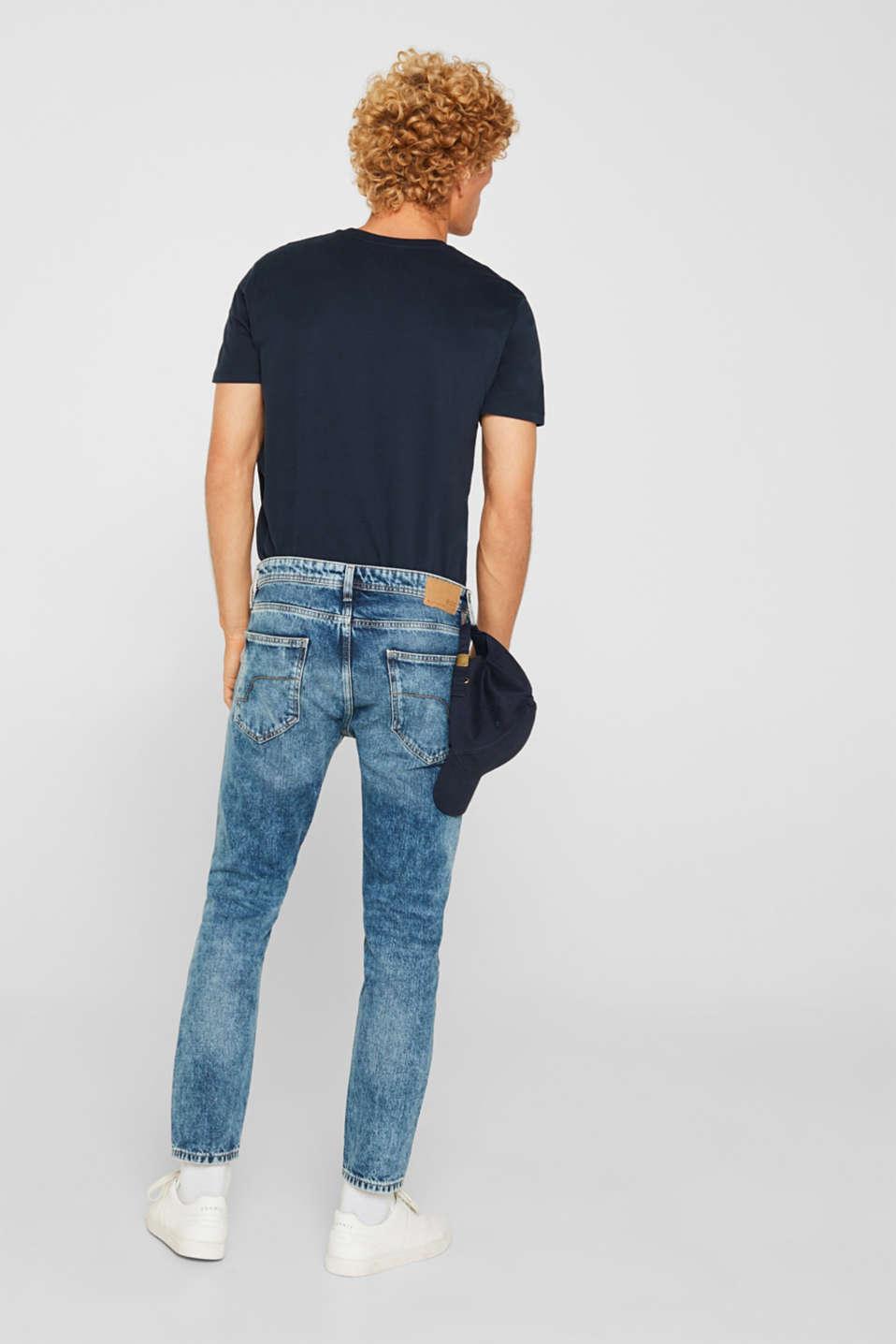 Jeans in 100% cotton, BLUE LIGHT WASH, detail image number 1