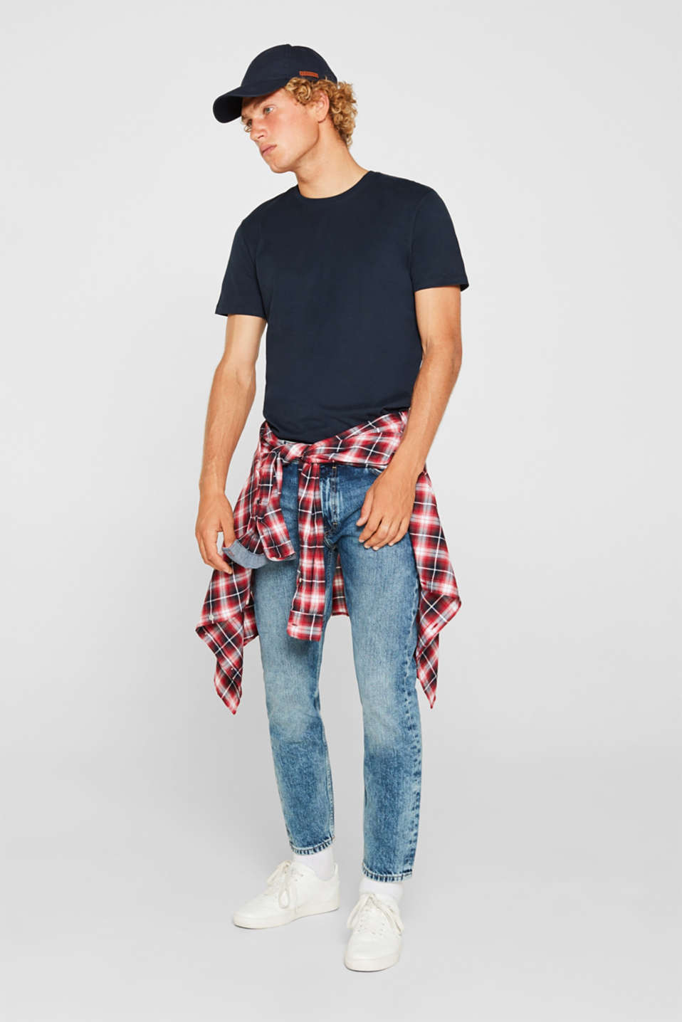 Jeans in 100% cotton, BLUE LIGHT WASH, detail image number 2