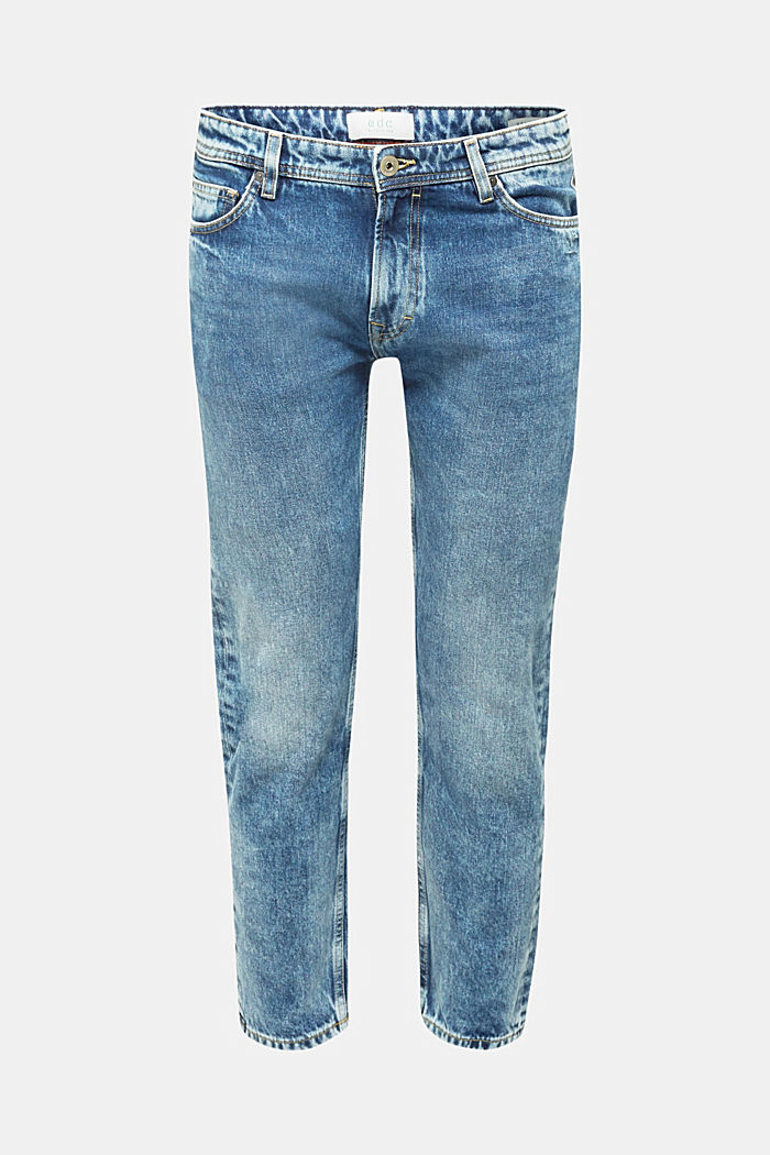 Jeans in 100% cotton, BLUE LIGHT WASHED, detail image number 0