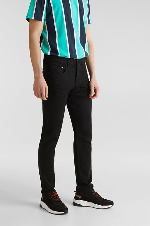 Stretch jeans with wrinkled effect