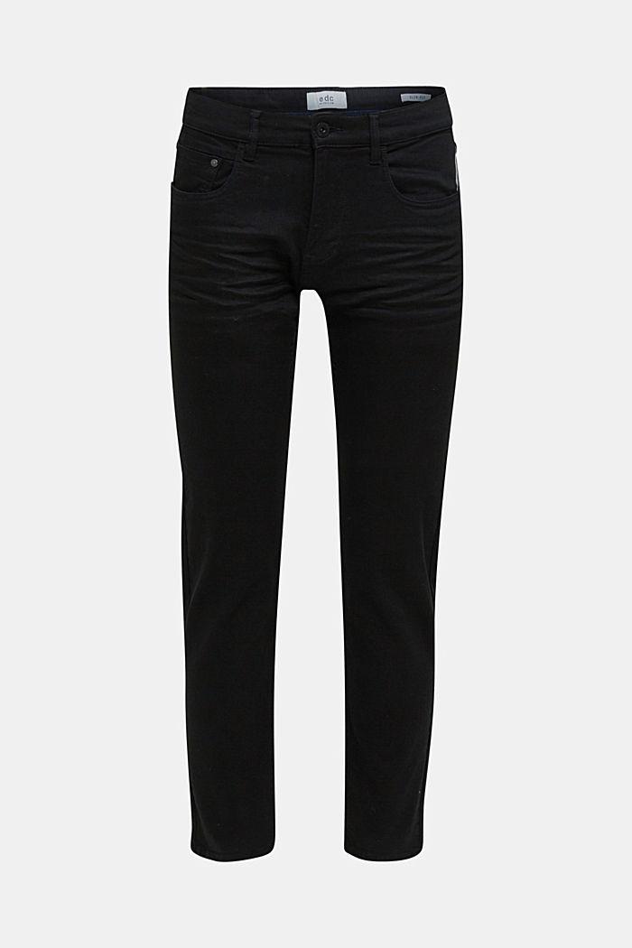 Pantalones elásticos con efecto arrugado