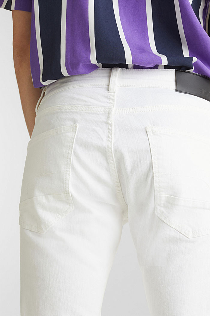 Stretch trousers with wrinkled effects, OFF WHITE, detail image number 5