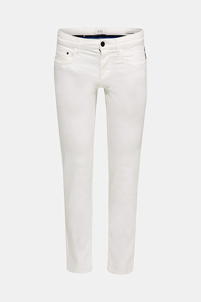 Stretch-Pants mit Wrinkle-Effekt, OFF WHITE, detail image number 6