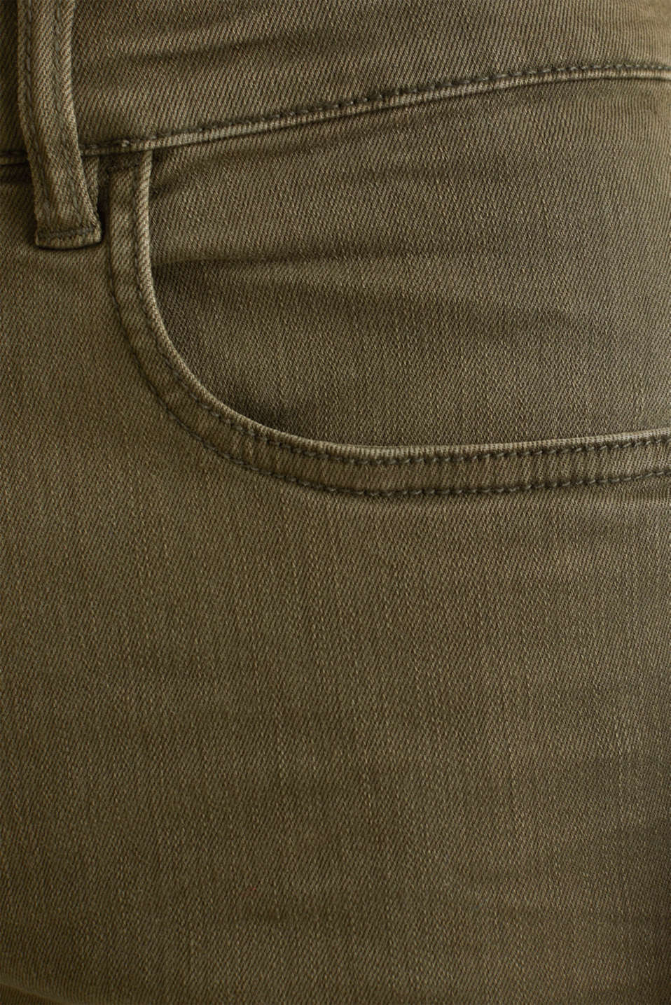 Stretch trousers with wrinkled effects, DARK KHAKI, detail image number 4
