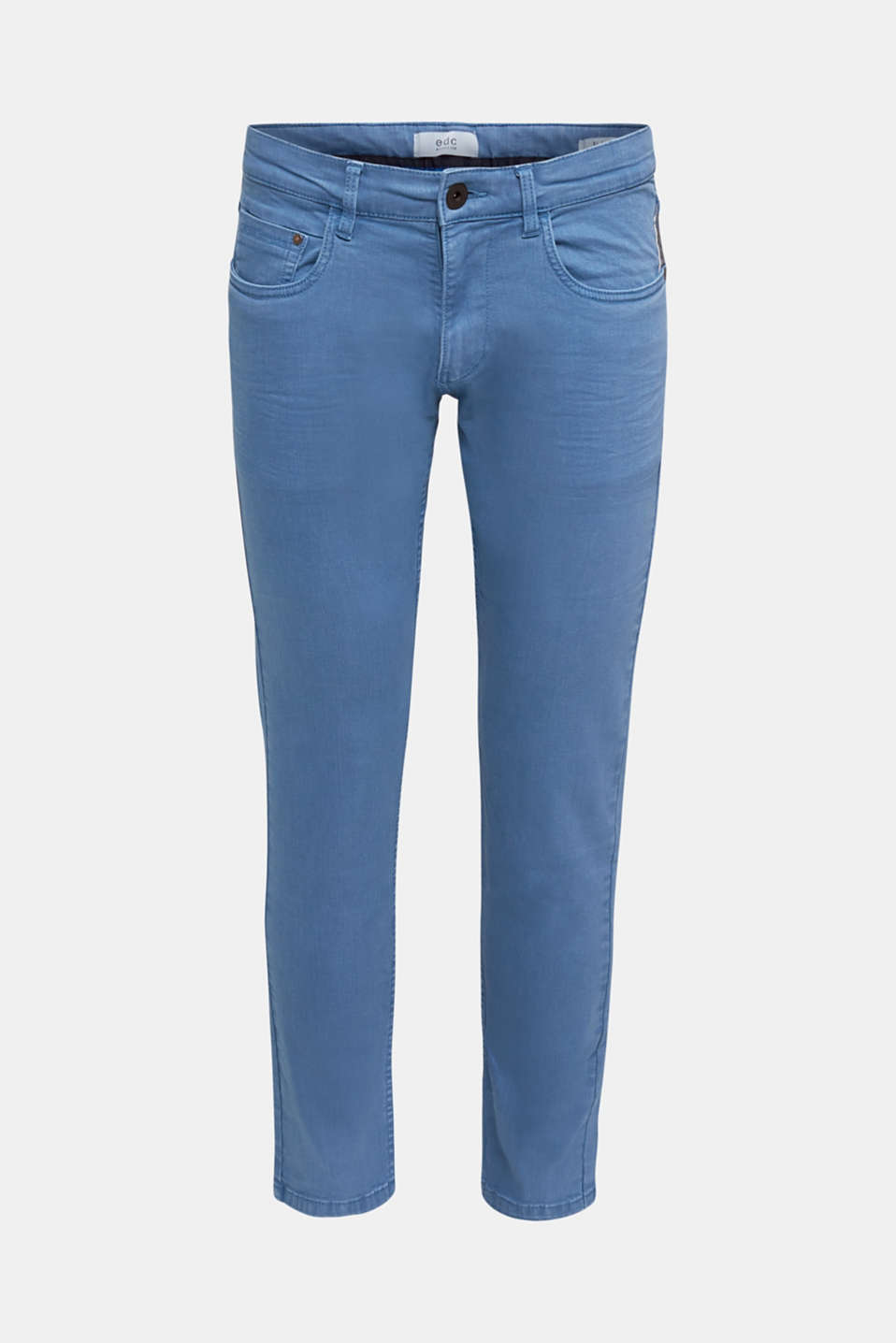 Stretch trousers with wrinkled effects, BRIGHT BLUE, detail image number 6
