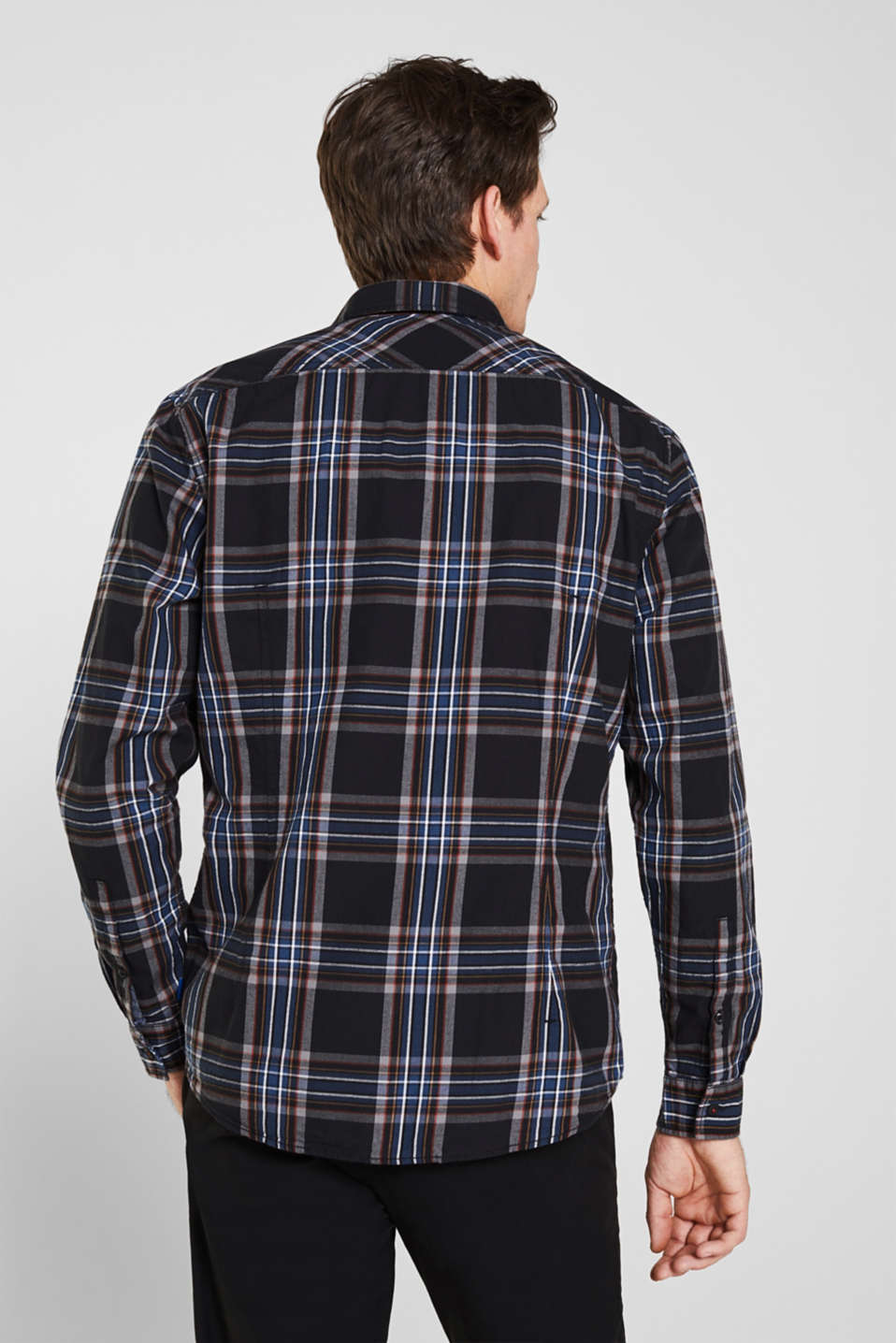 Flannel shirt with checks, 100% cotton, BLACK 3, detail image number 2