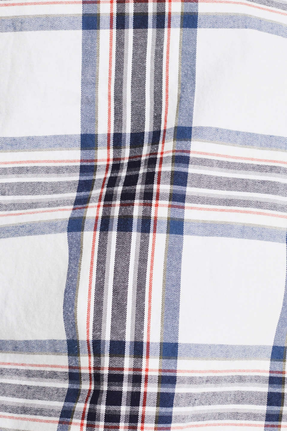 Flannel shirt with checks, 100% cotton, WHITE 3, detail image number 3