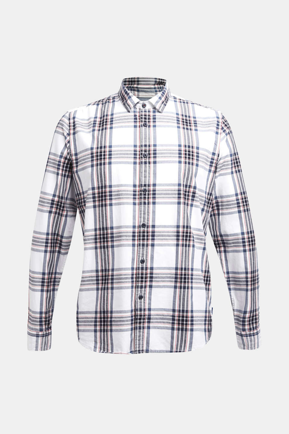 Flannel shirt with checks, 100% cotton, WHITE 3, detail image number 6