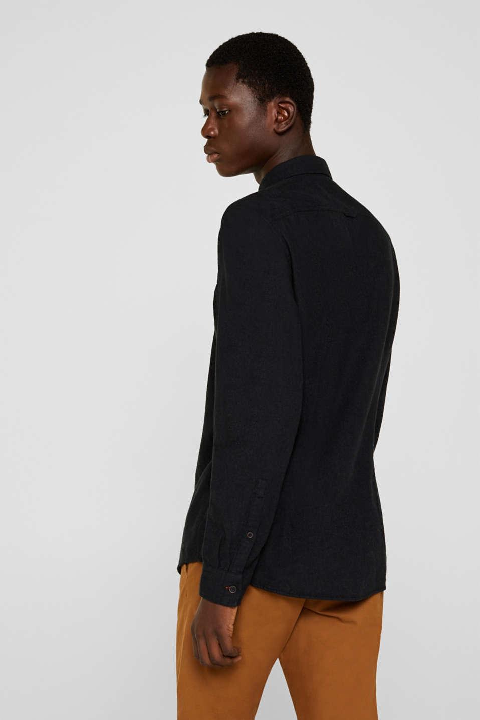 Shirts woven Slim fit, DARK GREY 5, detail image number 3