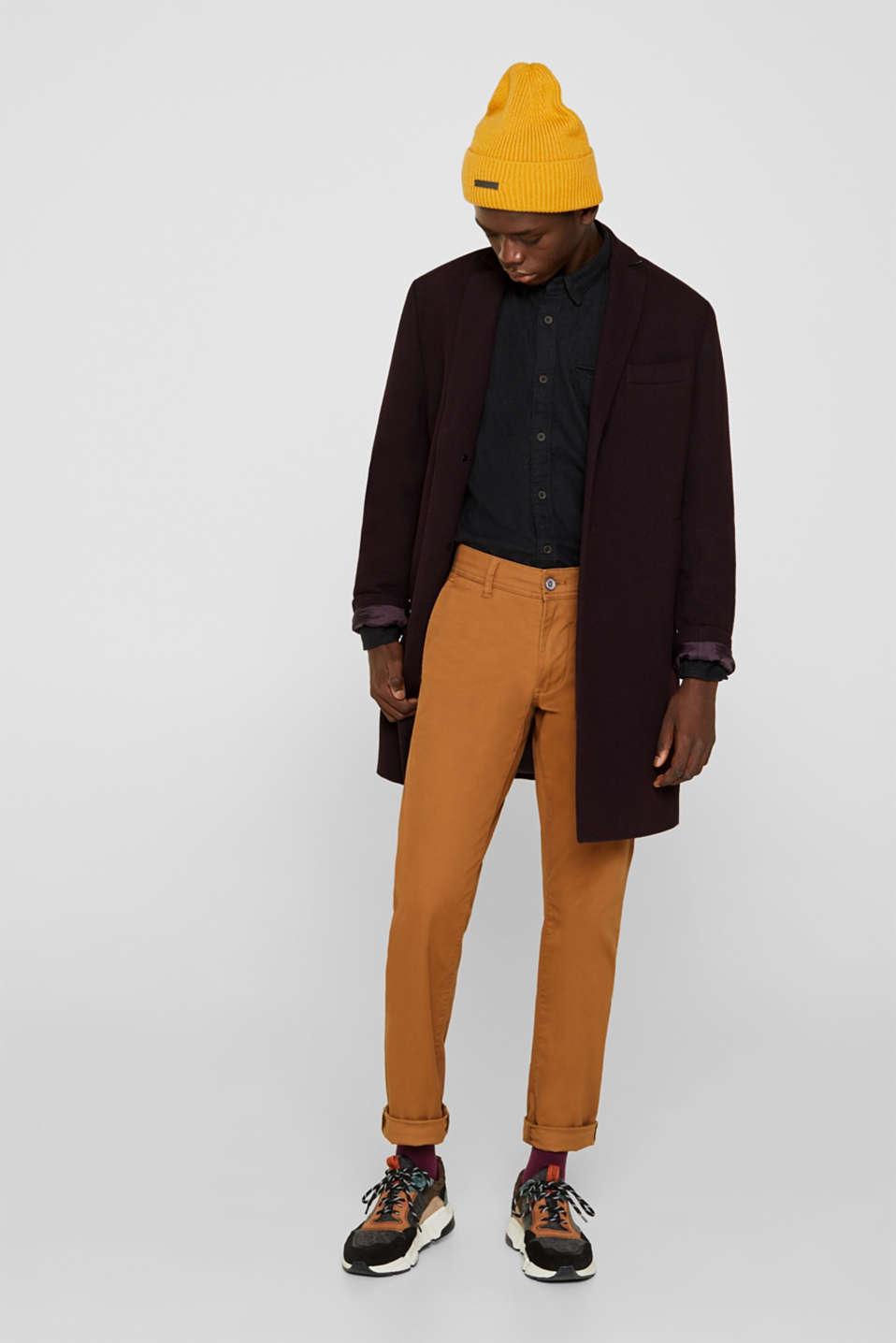 Shirts woven Slim fit, DARK GREY 5, detail image number 1