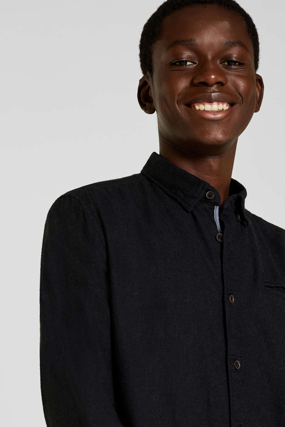 Flannel shirt in 100% cotton, DARK GREY 5, detail image number 2