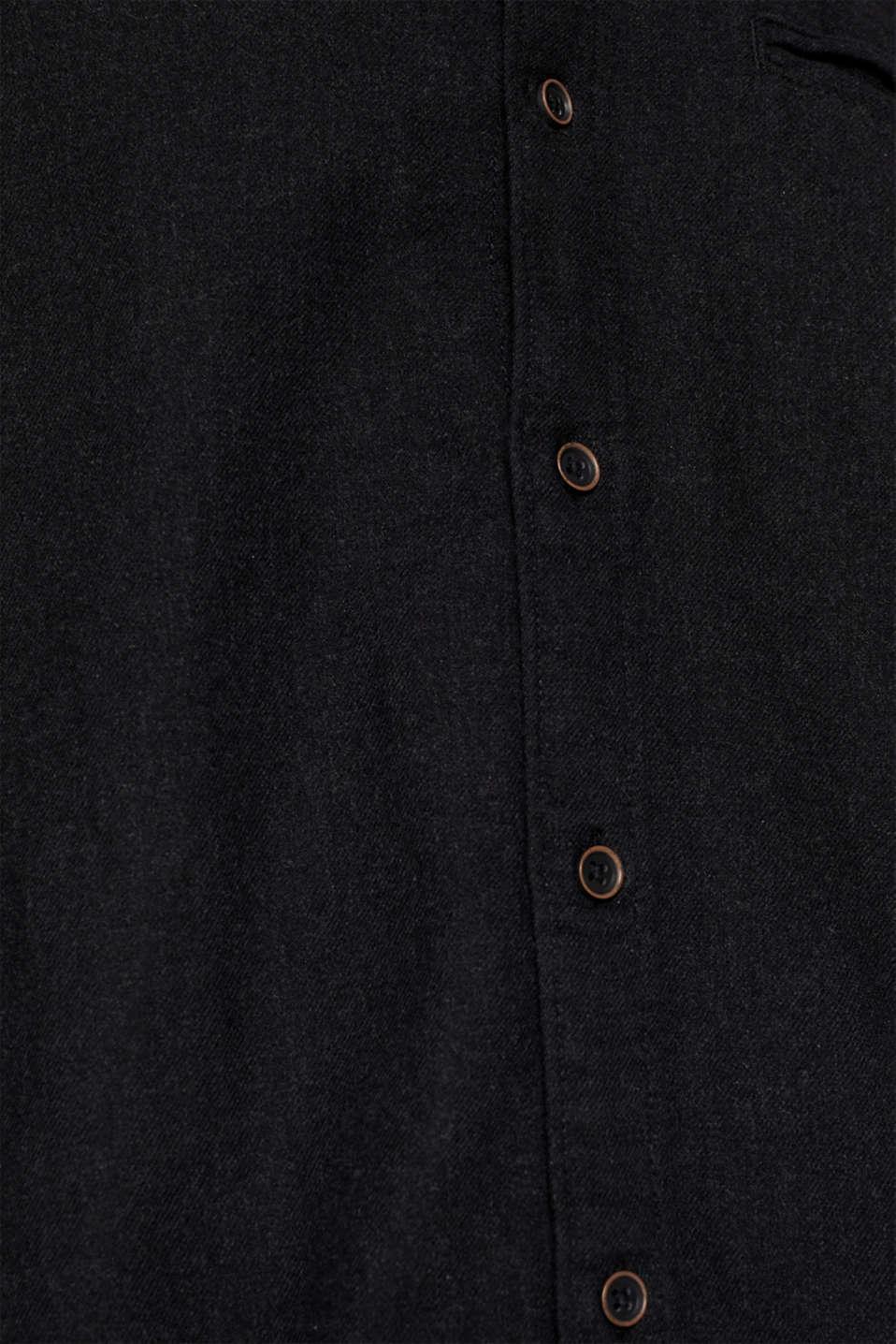 Flannel shirt in 100% cotton, DARK GREY 5, detail image number 4