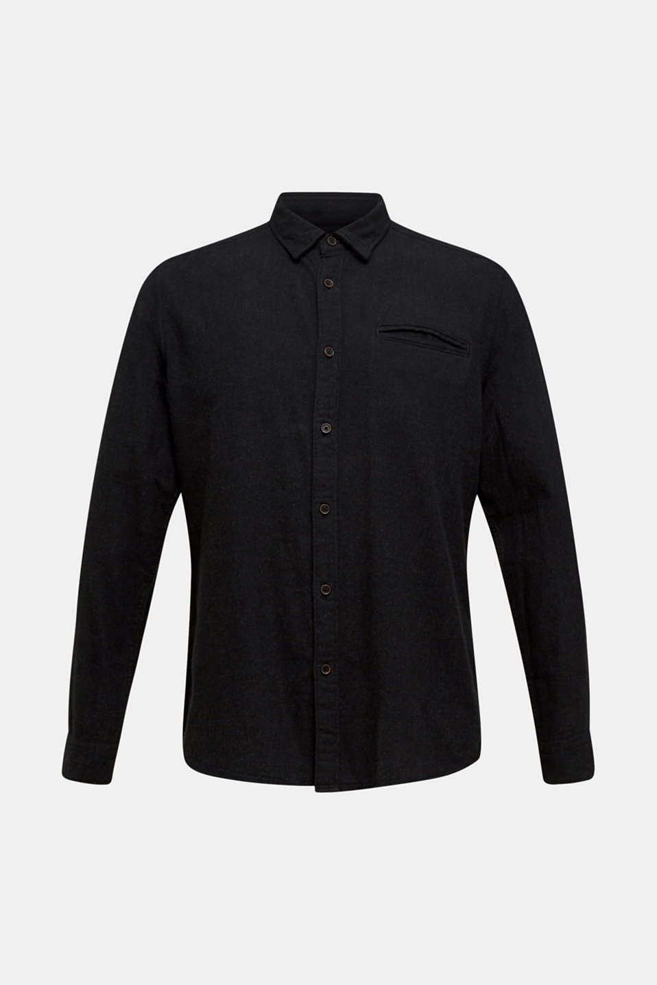 Flannel shirt in 100% cotton, DARK GREY 5, detail image number 6