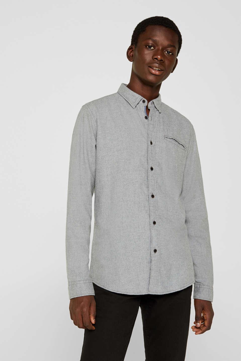 Shirts woven Slim fit, MEDIUM GREY 5, detail image number 0
