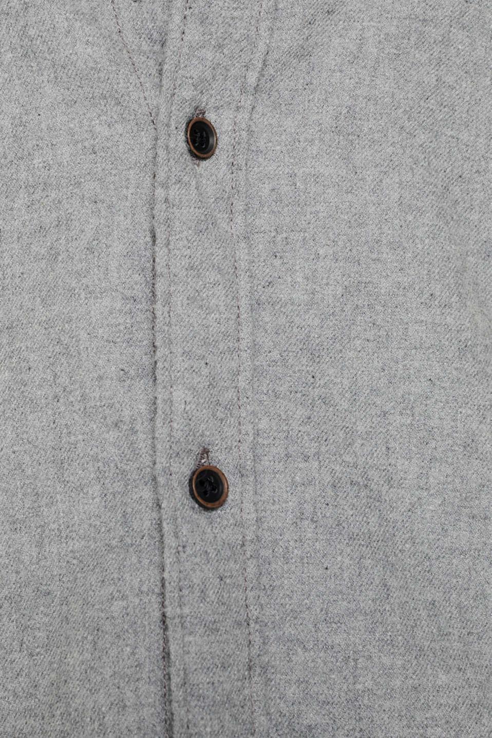 Shirts woven Slim fit, MEDIUM GREY 5, detail image number 4