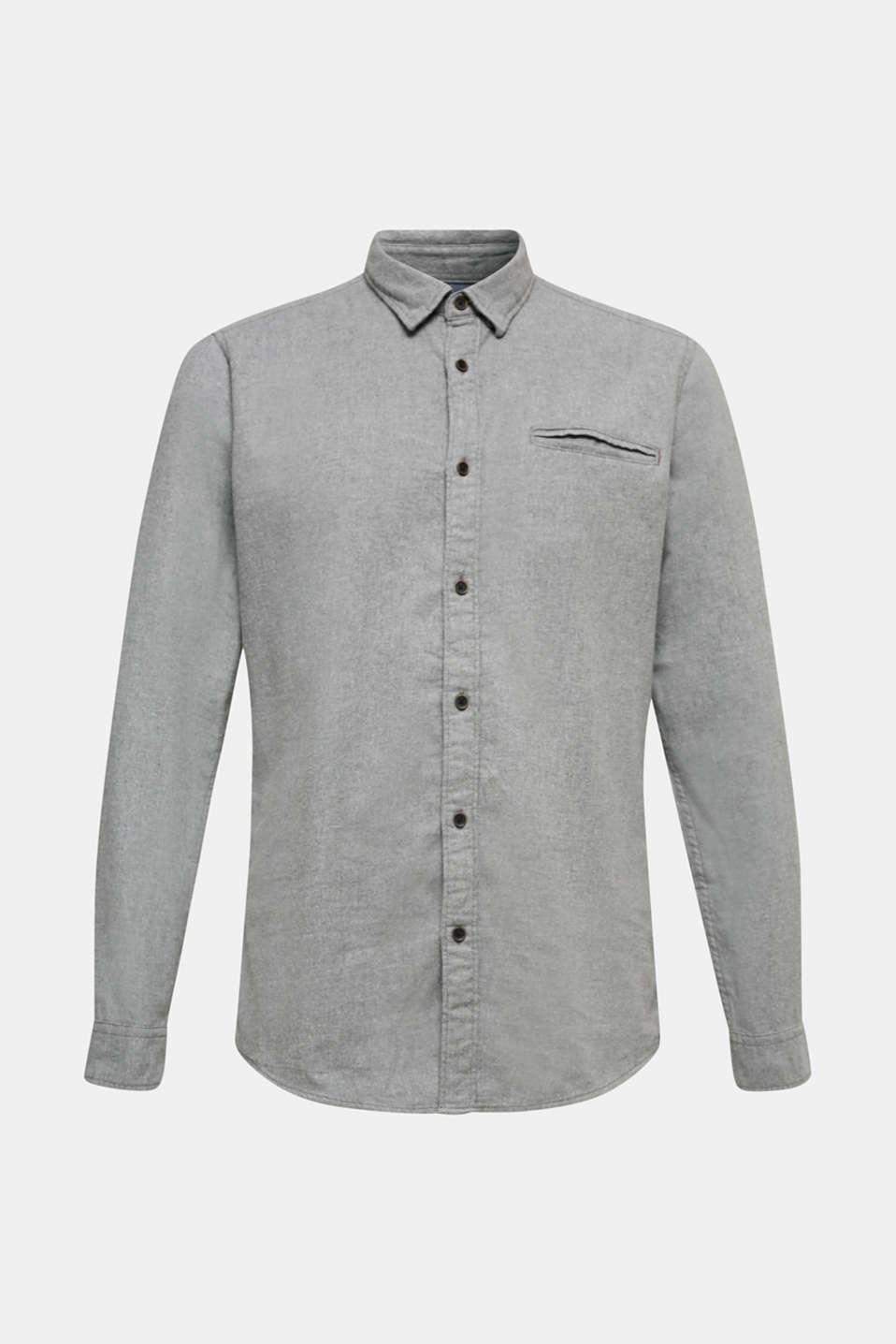 Shirts woven Slim fit, MEDIUM GREY 5, detail image number 5