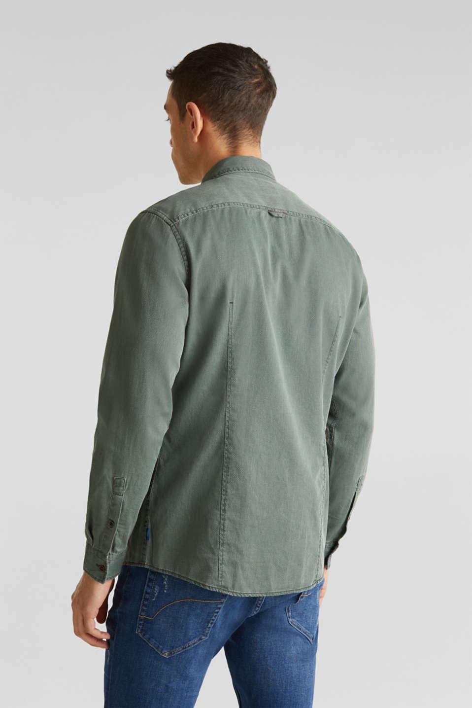 Shirts woven Slim fit, KHAKI GREEN 5, detail image number 3