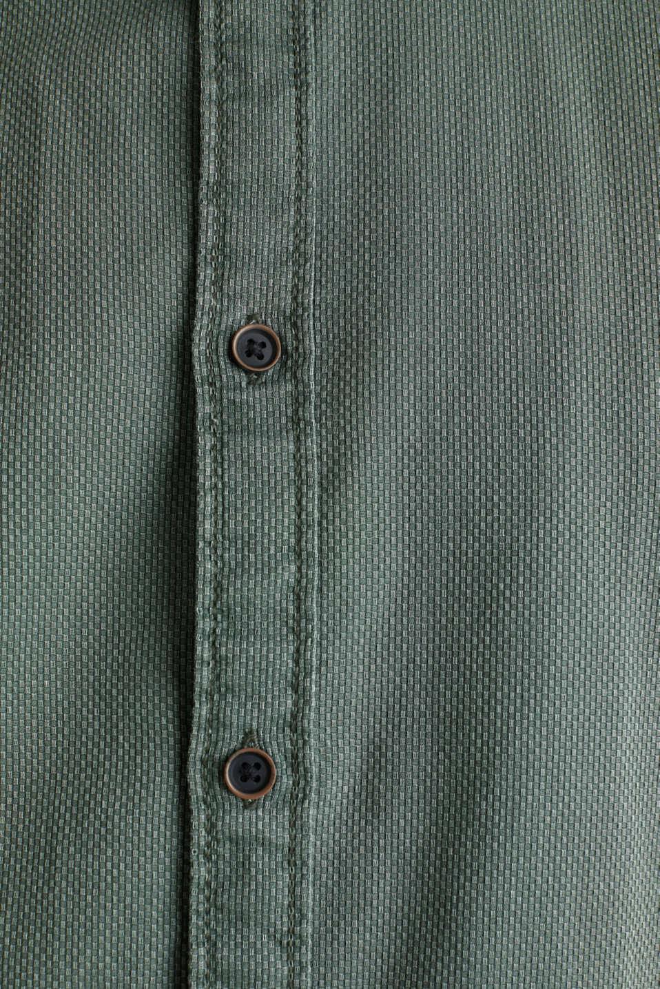 Shirts woven Slim fit, KHAKI GREEN 5, detail image number 4