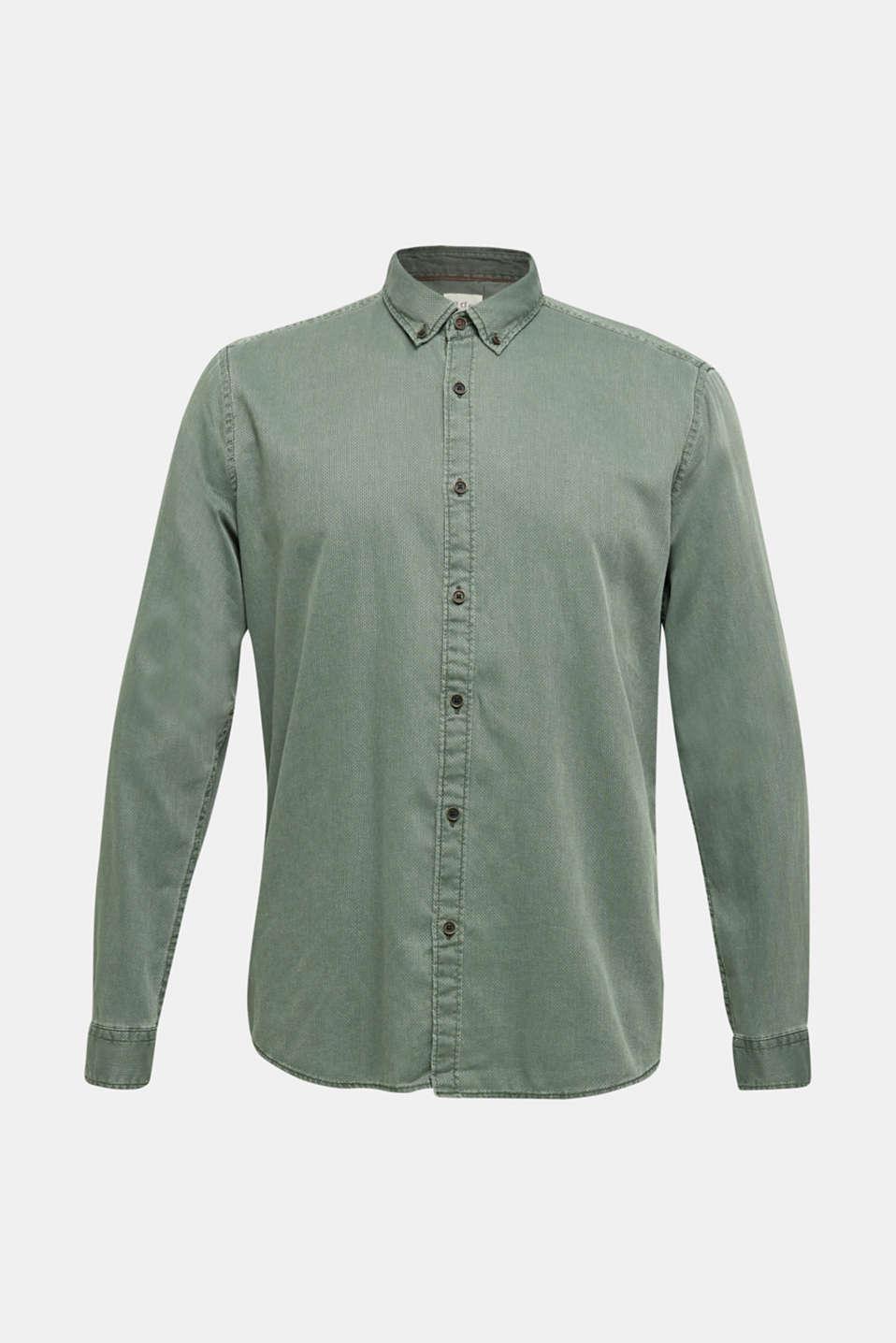 Shirts woven Slim fit, KHAKI GREEN 5, detail image number 8