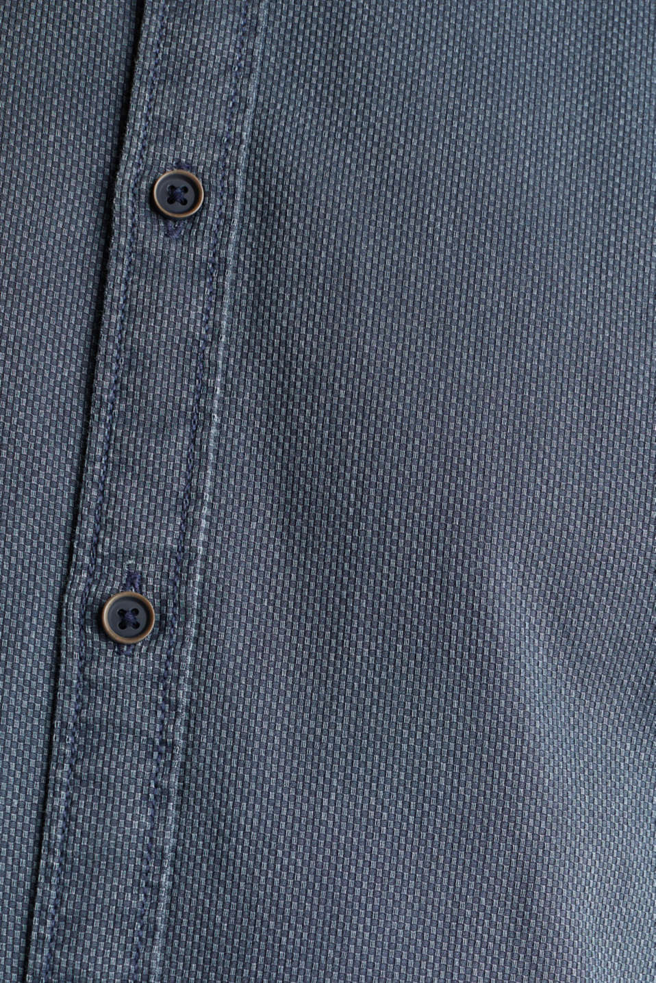 Shirt with a checked texture, 100% cotton, DARK BLUE 5, detail image number 4